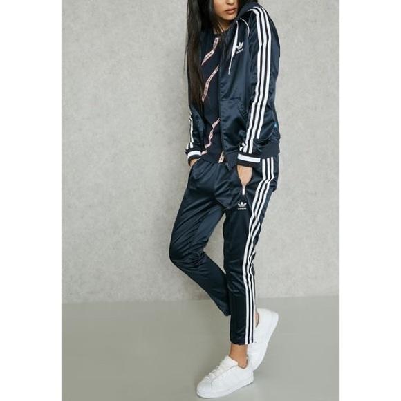 9371cfd8306 adidas Pants | Cigarette Satin Track | Poshmark